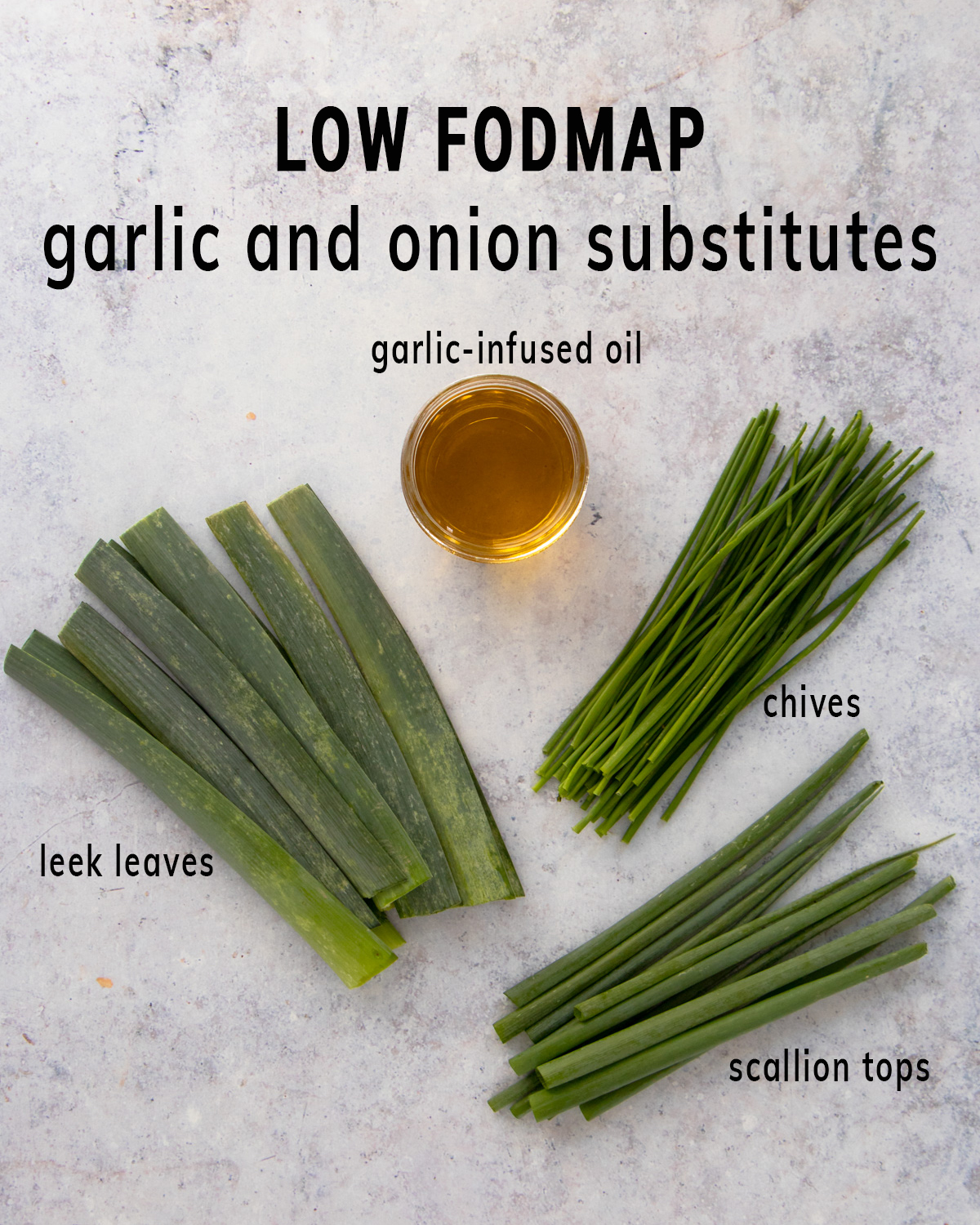 LOW FODMAP garlic and onion substitutes